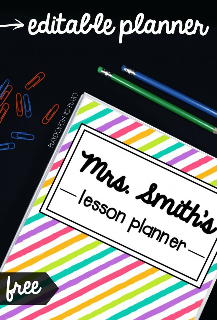 Free Editable Teacher Planner! Bright covers, organization sheets, student checklists, lesson plan pages... I love that it's all editable.
