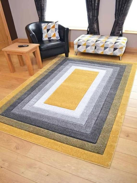 New Modern Thick Soft Quality Mustard Brown Floor Mat Rugs Long Hall Runners