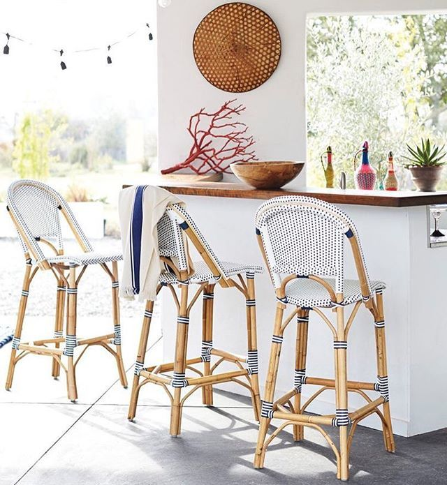 Your #FourthofJuly party won't be complete without these @serenaandlily bar stools [on sale today ONLY via link in our bio]!