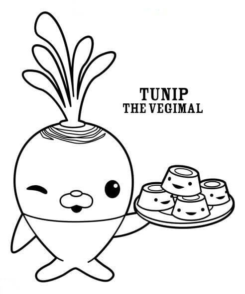 Octonauts Coloring Pages Tunip Vegimal | Time to make the biscuits ...