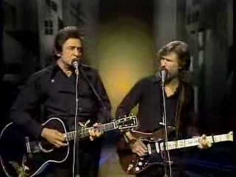Johnny Cash & Kristoffersen -- Sunday Morning Coming Down