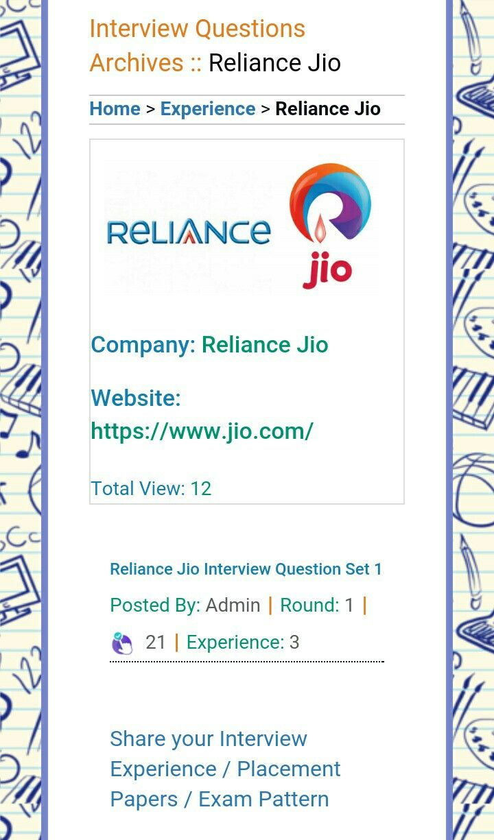 Reliance jio interview questions and answers for cloud based