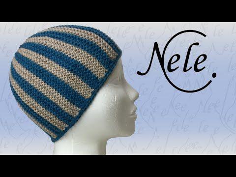 """Mütze stricken, """"kleiner Mützling"""" kraus rechts gestrickte Mütze, DIY Anleitung by Nele C. - YouTube"""