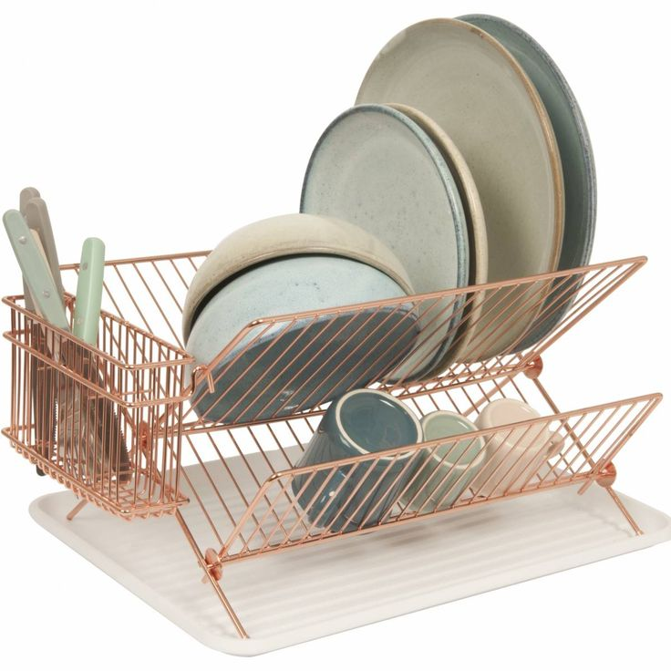 Best 25 dish racks ideas on pinterest closet store kitchen store and space saver microwave - Dish rack for small space collection ...