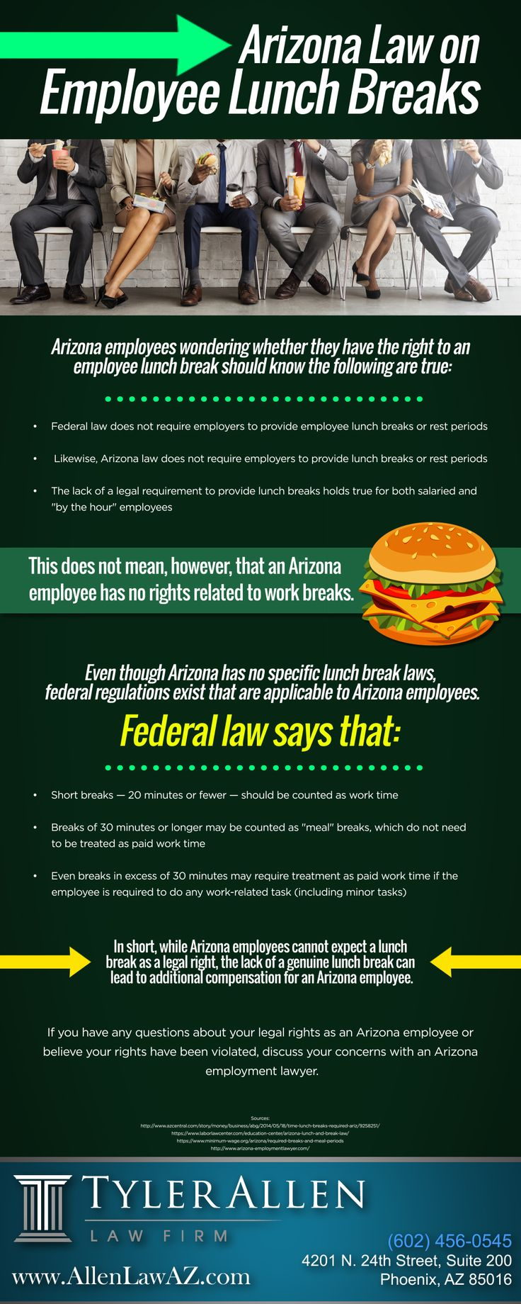 Arizona Law on Employee Lunch Breaks