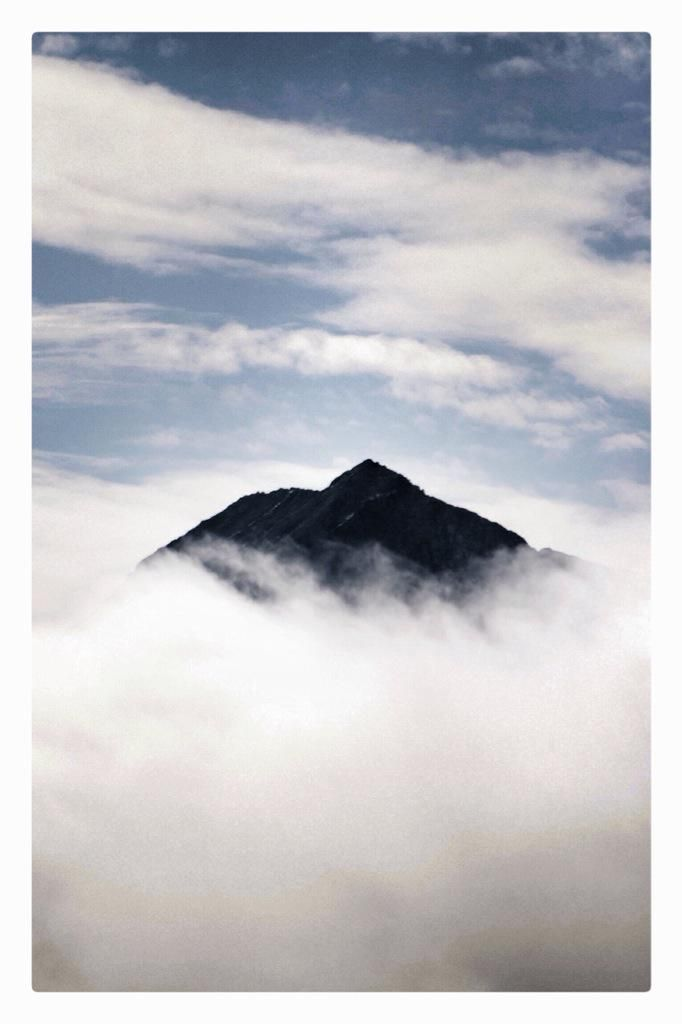 Crib Goch isolated as a peak, not a ridge. Far from just a Snowdon crony.