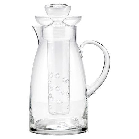 Handcrafted+glass+pitcher+with+infuser.++Product:+Pitcher+and+infuser++++Construction+Material:+Glass+++++...