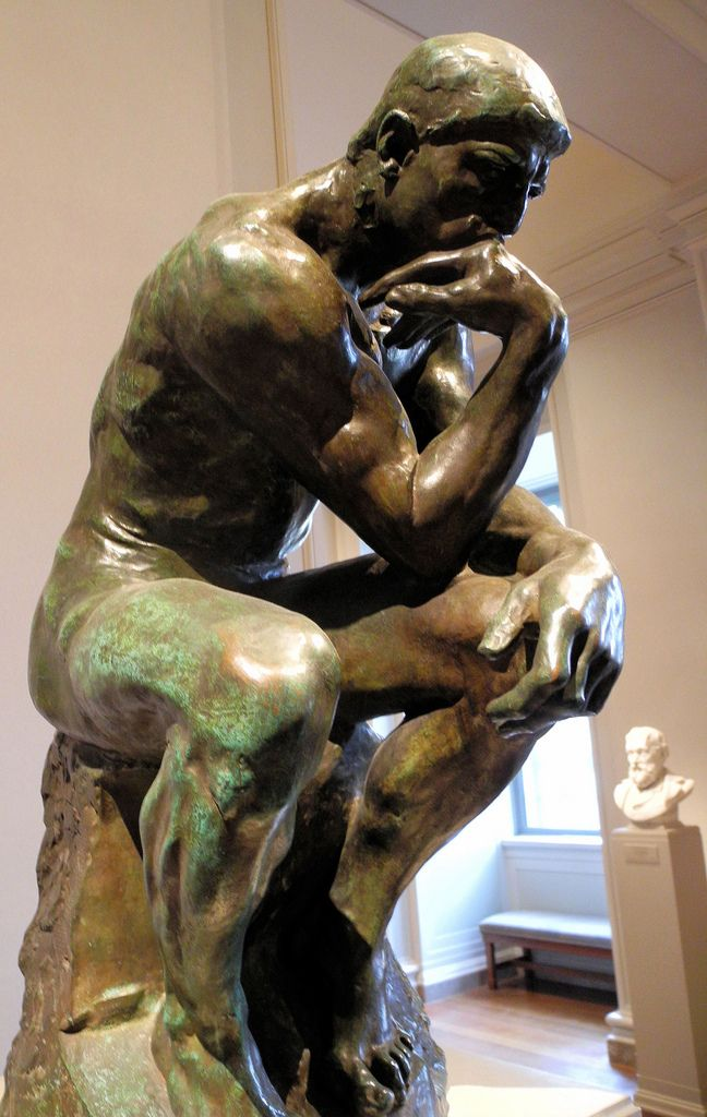 Auguste Rodin - The Thinker (Le Penseur) at National Art Gallery Washington DC always the best!!!!