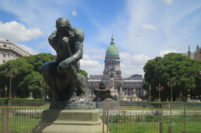 Found Rodin's The Thinker in a park in Buenos Aires