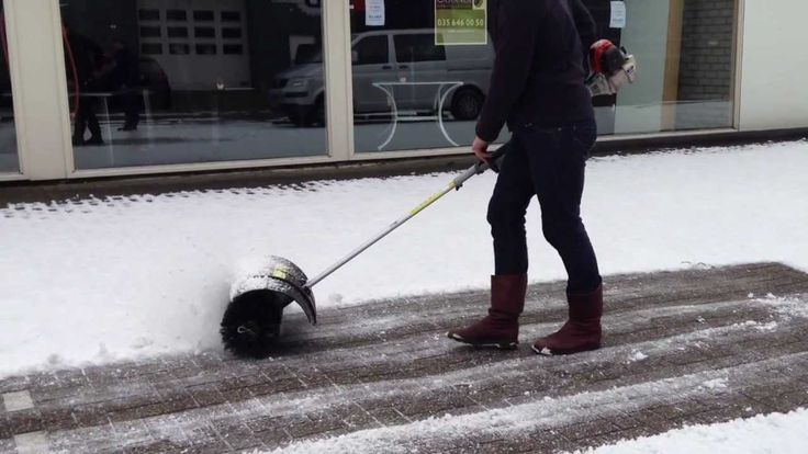 Stihl Power Broom - Snow Removal Magic.