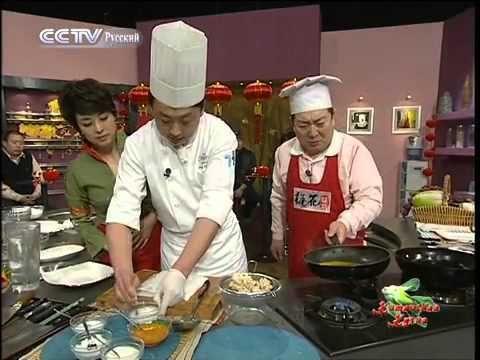 """Китайская кухня: Рыба """"Хризантема"""" в апельсиновом соусе, Креветки с краб..."""