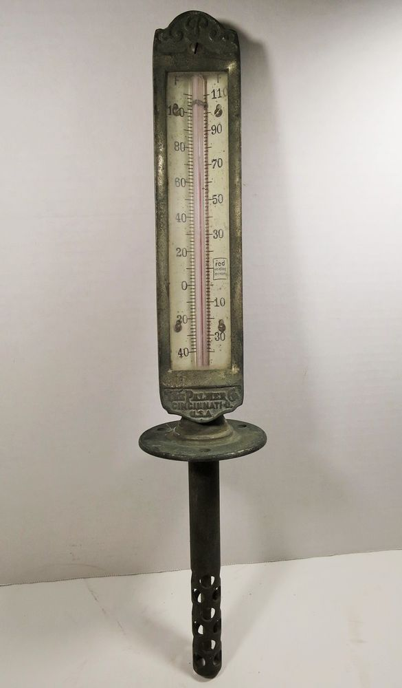 Antique The Palmer Co Industrial Thermometer Cast Iron Steam Punk Palmer Vintage Hardware Vintage Tools Antiques