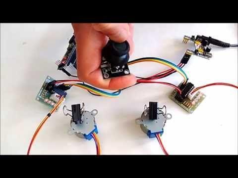 Arduino Nano and Visuino: Control 2 Stepper Motors with Joystick #Arduino #Visuino