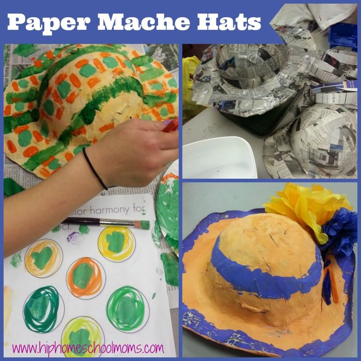 How to make Paper Mache Hats for a fun summer project! | hip Homeschool Moms