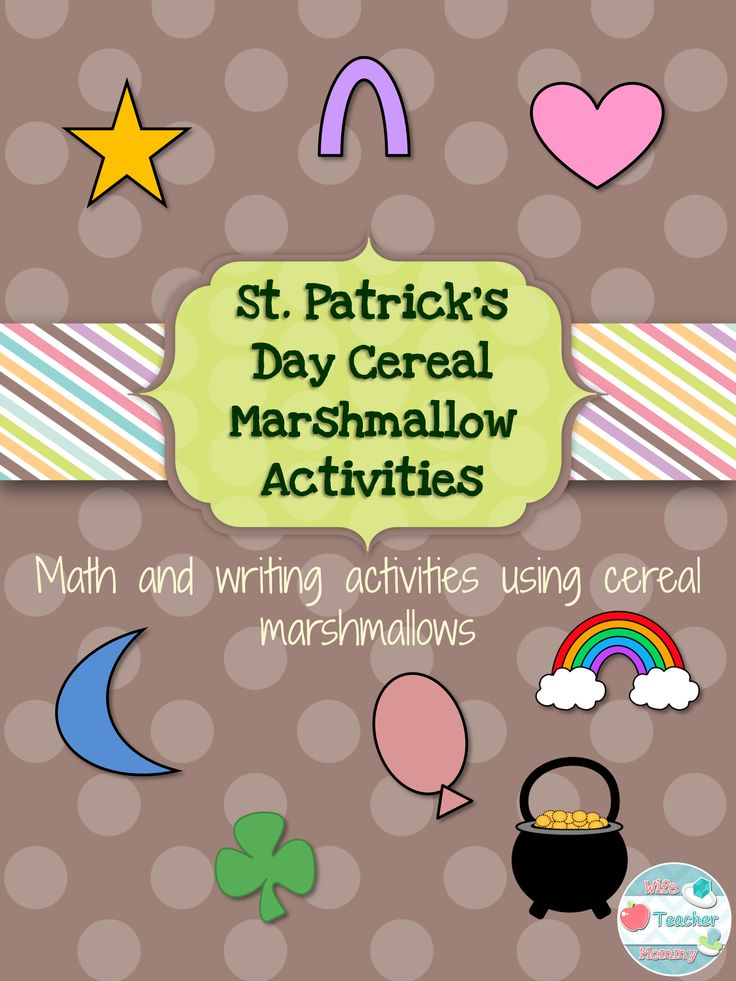 St. Patrick's Day Cereal Marshmallow Activities will allow your students to have fun with name brand cereal marshmallows while still engaging them in learning! This product includes 4 math worksheets and 4 writing worksheets, all using conversation hearts. These activities are VERY low prep for you!