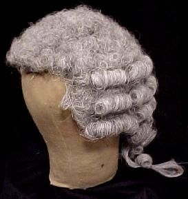 Late 1700s, James Smith Esquire's powdered wig. Smith was a lawyer, and barristers still wear wigs very similar to this today