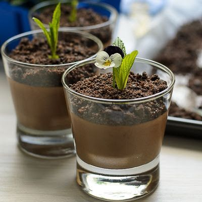 Chocolate Mousse with Chocolate Dirt - Lisa's Lemony Kitchen