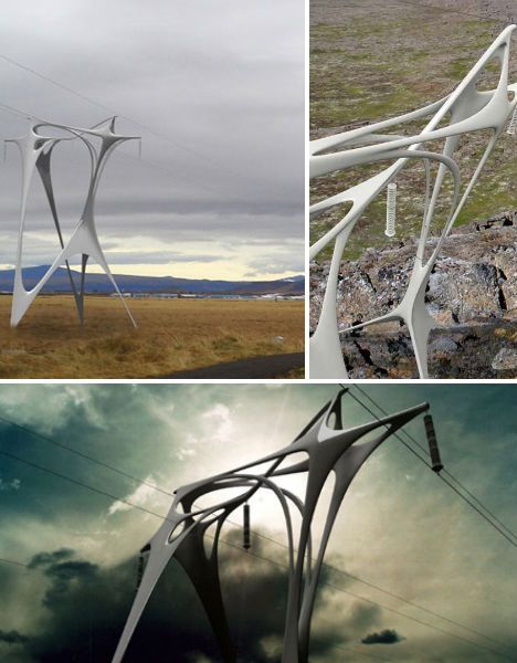 Best UD Infrastructures Images On Pinterest Architecture - Architects turn icelands electricity pylons into giant human statues