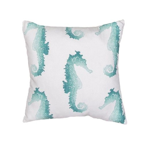 turquoise seahorse parade indoor outdoor pillow seahorses indoor rh pinterest com