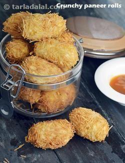 Crunchy Paneer Rolls recipe | by Tarla Dalal | Tarladalal.com | #32931