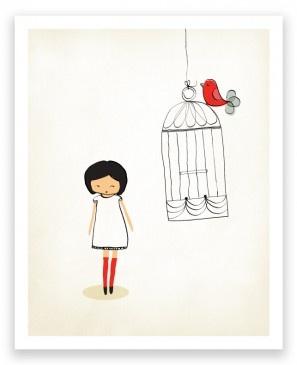 Little One Birdcage 2012 Art Print