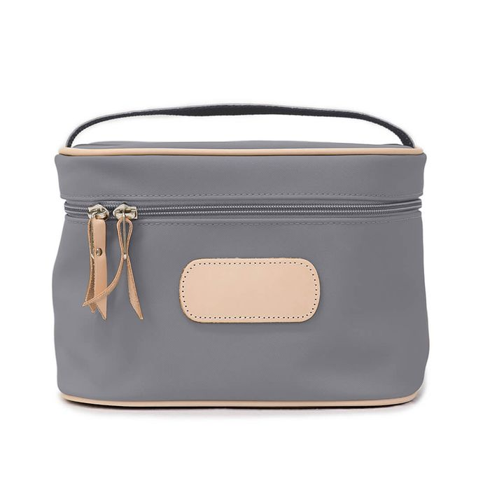 Jon Hart Makeup Case Shown in Slate Coated Canvas