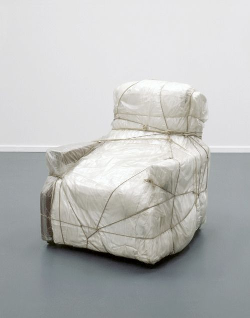 Christo, wrapped armchair, 1964-65