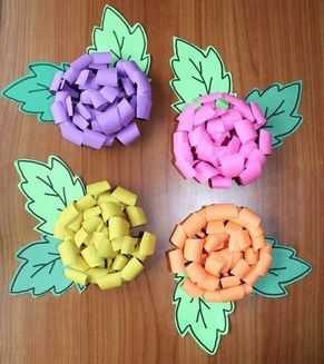 "Chrysanthemum & Name Activities: Simple ""cut and roll"" paper chrysanthemum flower craft. Fun activity for kiddos to do after reading the story Chrysanthemum, which is perfect for back to school or bucket filling."