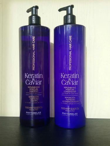PHYTORELAX Keratin & Caviar SHAMPOO & CONDITIONER 33.82 oz. each