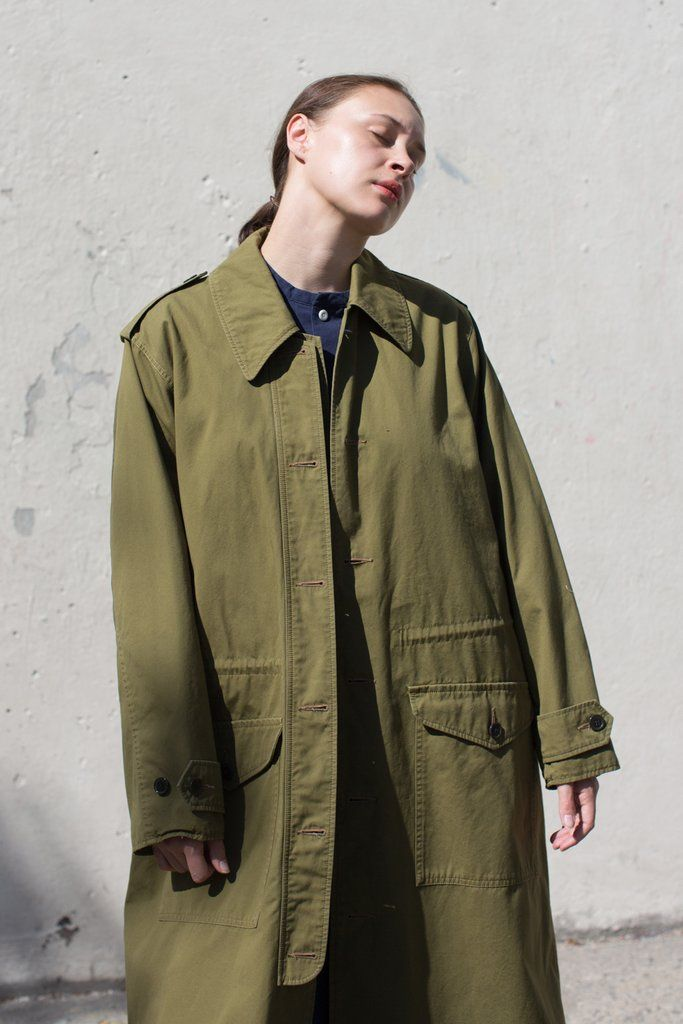 Chimala Norwegian Army Coat in Khaki Green | Oroboro Store | New York, NY