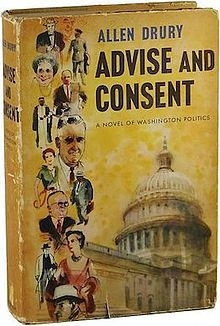 First edition of Advise and Consent by Allen Drury, 1959.