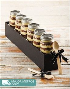 Cakes and Cupcakes - Cupcake Jars: 6 White Lindt Chocolate Cupcakes in a Jar!