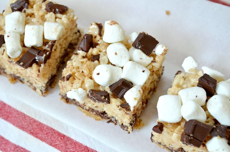 S'mores Rice Krispie treatsSummer Potlucks, Smores Crispy, Rice Treats, Crispy Rice, Healthy Recipe, Smores Rice, S More Rice, Rice Krispie Treats, Rice Crispy Treats