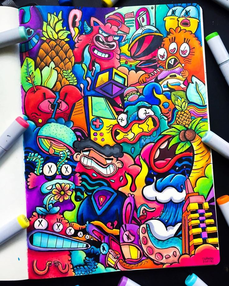 """Gawx Art on Instagram: """"Yasss just finished this full page ..."""