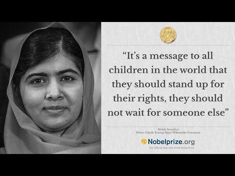 Peace prize winner Malala!