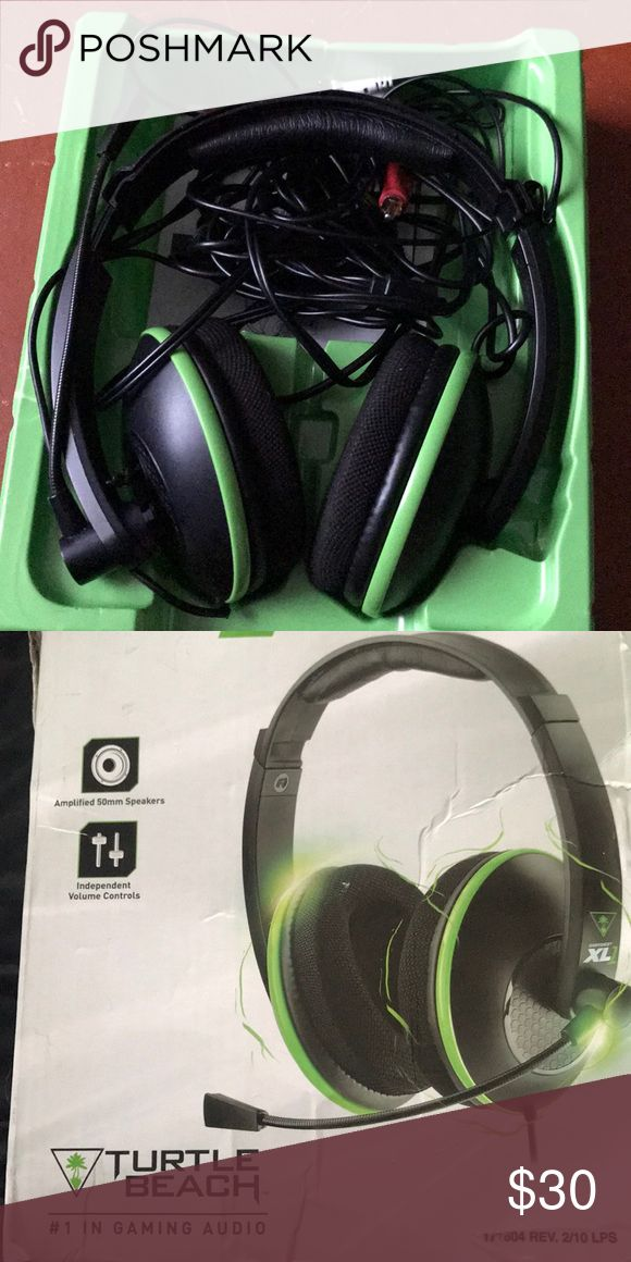 Turtlebeach Headset xl1 Turtlebeach Headset with all wires and I compatible with xb1,PS4,xbox360,ps3 turtlebeach Other