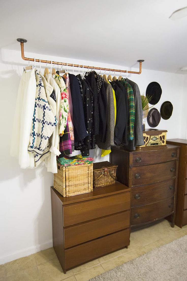 Where to store clothes without a closet