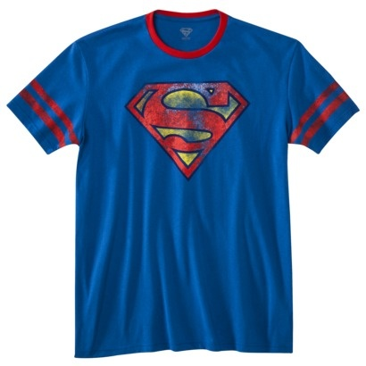 Superman Shield Men's Graphic Tee - Royal Blue $12.99