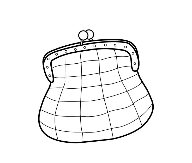 Fashion small bag coloring page for girls printable free