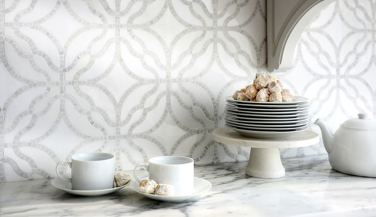 Exuding Old World charm, Claudette is one of the motifs in the Parterre line by New Ravenna | azuremagazine.com