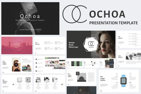 Holy amazing design asset Batman! Ochoa Minimal Powerpoint Template