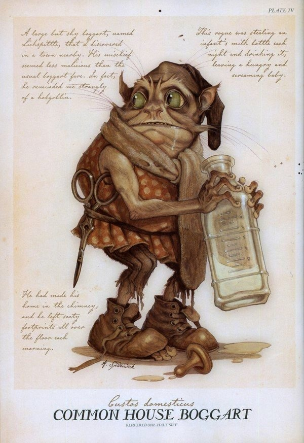 Common House Boggart, by Tony DiTerlizzi  (From Arthur Spiderwick's Field Guide)