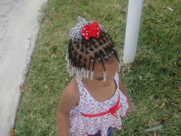 My Baby Box Braids Plats And Beads Little Girl