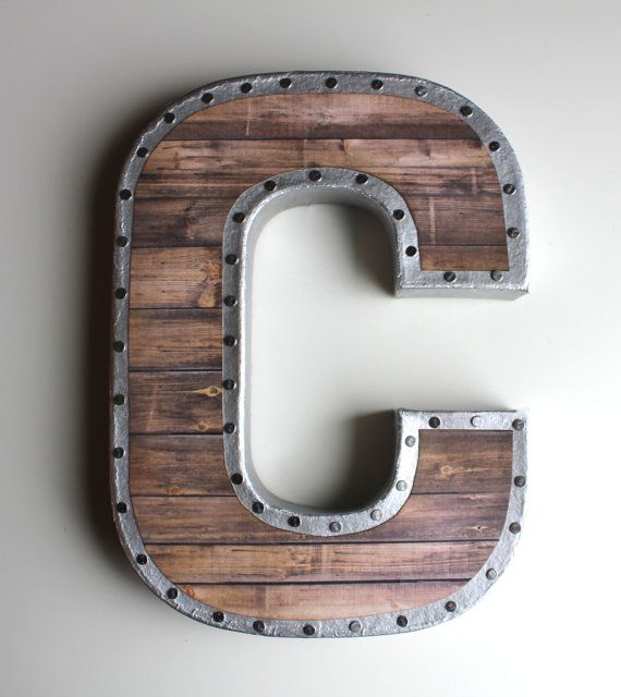 Faux Reclaimed Wood Letters, Gallery Wall, Reclaimed Wood Letters, Metal Letters, Letters for Nursery, Industrial Letters, Farmhouse Decor