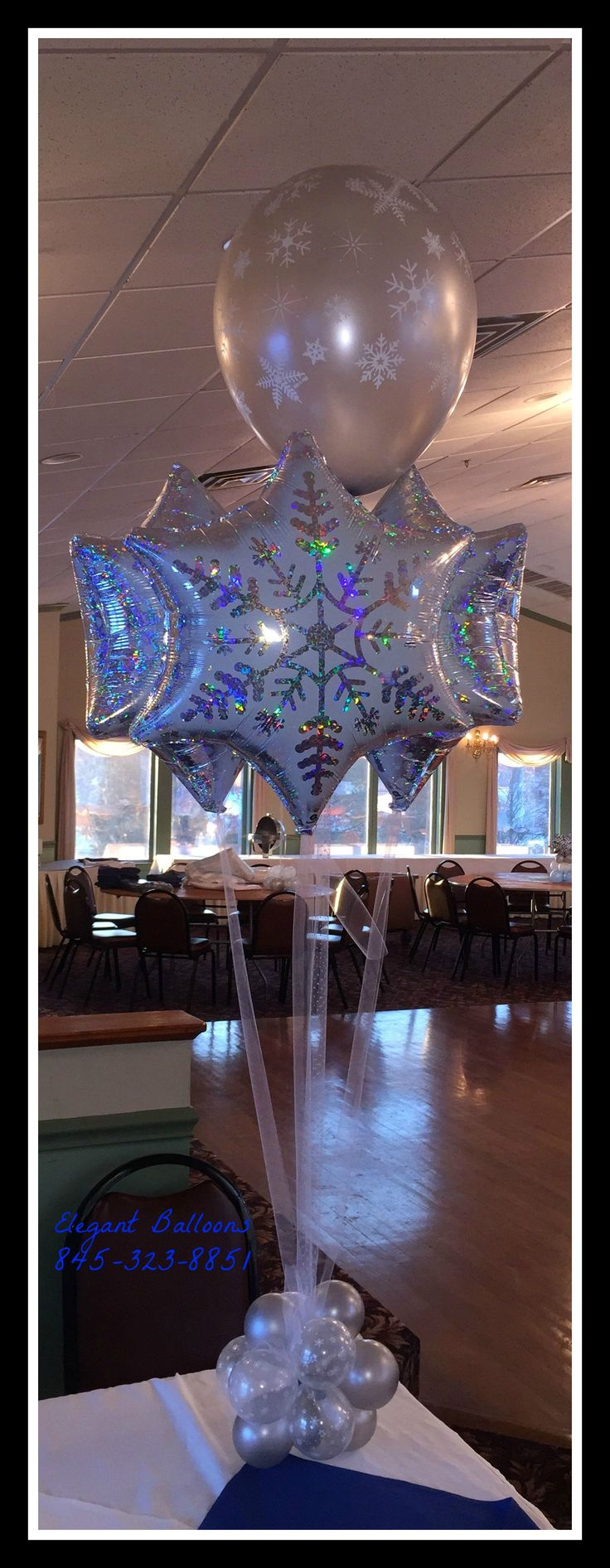 Snowflake winter wonderland centerpiece