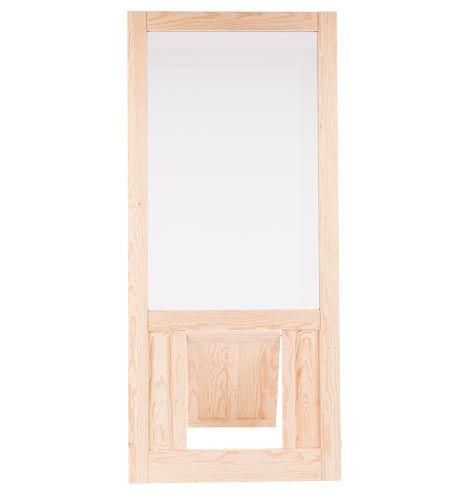 """Fir Screen Door with Pet Door 32 x 81""""    REJUVENATION  $432"""