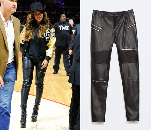eb8a128804b27 Selena Gomez's Forever 21 Top, Beyonce's Zara Pants And More Cheap Celeb  Finds Of The Week | Style | Leather pants, Pants, Zara black