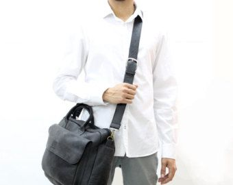 """Check out SALE !!! Black leather briefcase, Distressed mens leather messenger bag  black mens laptop bag men 11 - 15.6"""" mens leather computer bag on limorgalili"""