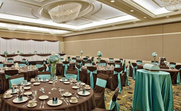 Chocolate And Teal Wedding Reception: Wedding Decor, Chocolate Brown & Teal/aqua Accents