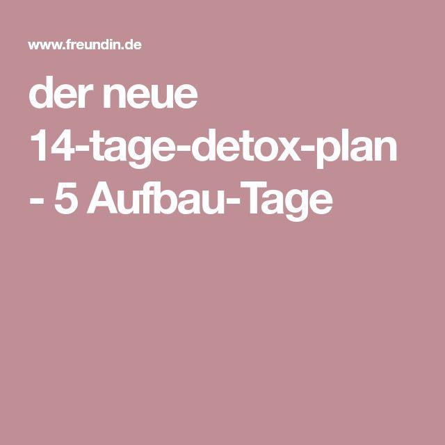 der neue 14-tage-detox-plan - 5 Aufbau-Tage